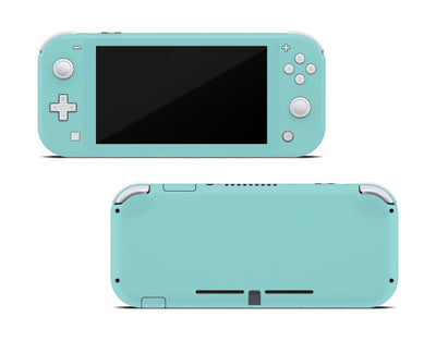 Sticky Bunny Shop Nintendo Switch Lite Light Teal Cute Solid Pastel Nintendo Switch Lite Skin | Choose Your Color