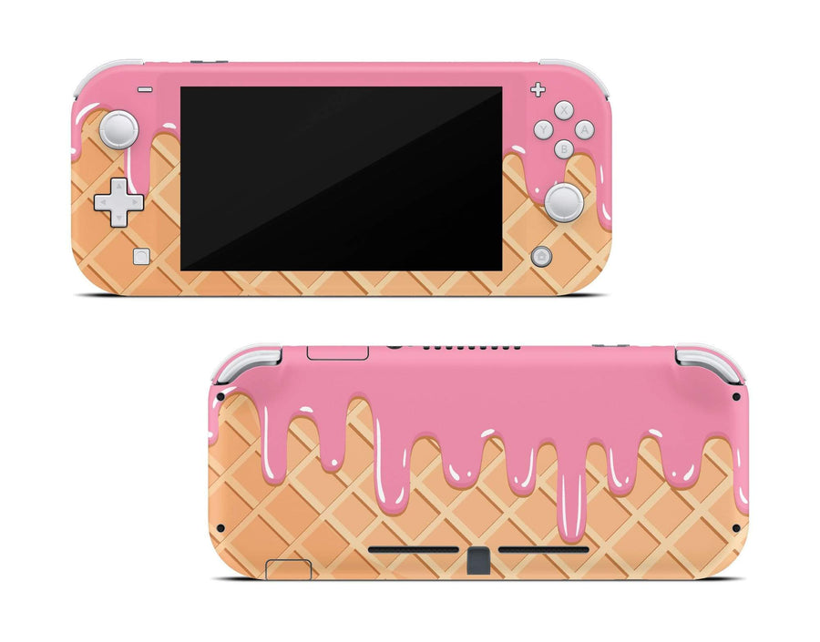 Sticky Bunny Shop Nintendo Switch Lite Melted Ice Cream Cone Nintendo Switch Lite Skin