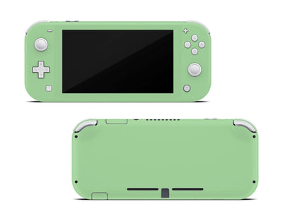 Sticky Bunny Shop Nintendo Switch Lite Pastel Green Cute Solid Pastel Nintendo Switch Lite Skin | Choose Your Color
