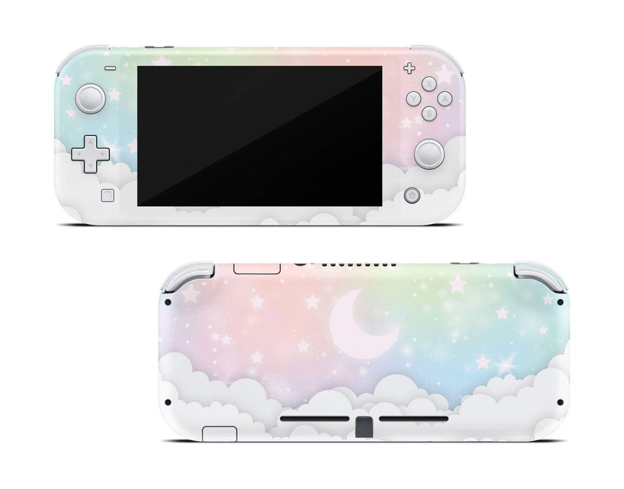 Sticky Bunny Shop Nintendo Switch Lite Pastel Lunar Sky Nintendo Switch Lite Skin