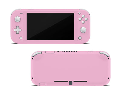 Sticky Bunny Shop Nintendo Switch Lite Pastel Pink Cute Solid Pastel Nintendo Switch Lite Skin | Choose Your Color