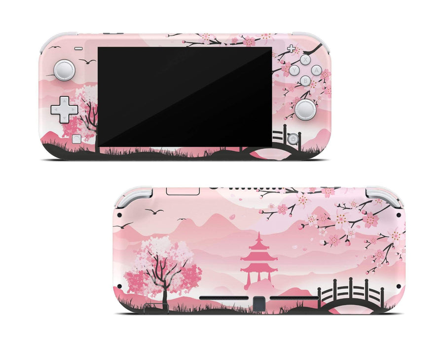 Sticky Bunny Shop Nintendo Switch Lite Pink Sakura Nintendo Switch Lite Skin