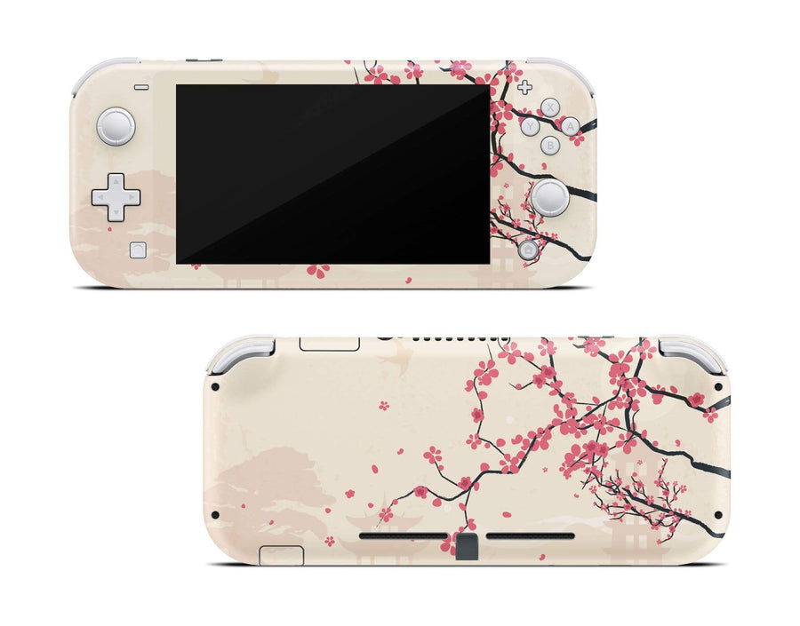 Sticky Bunny Shop Nintendo Switch Lite Sakura Blossoms Nintendo Switch Lite Skin