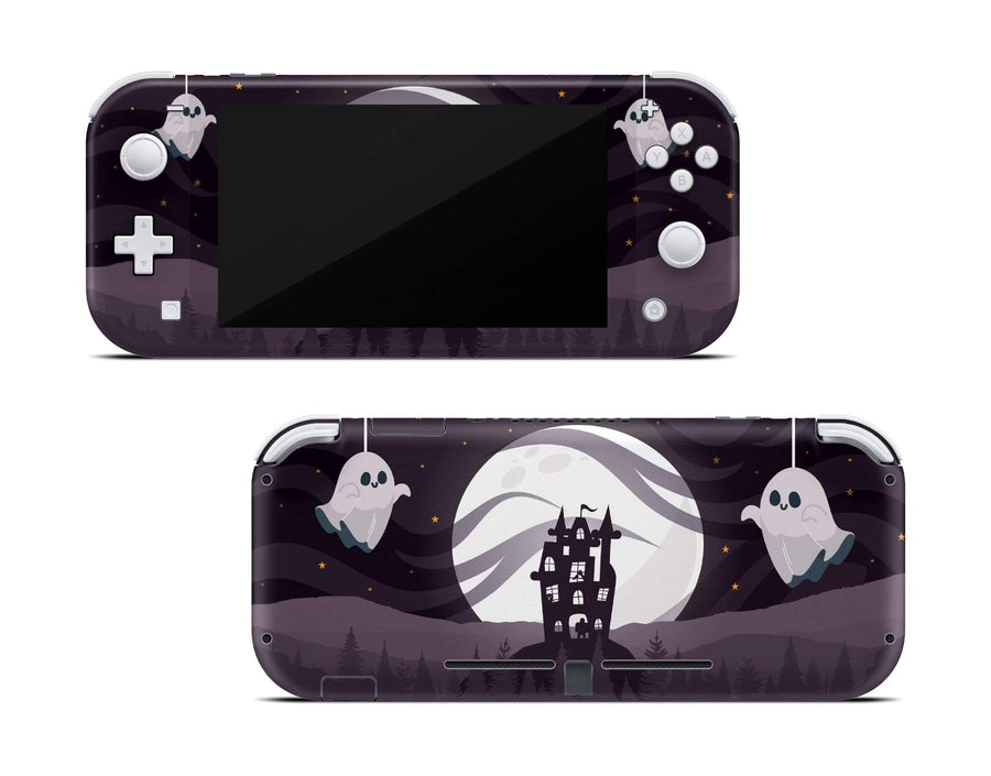 Sticky Bunny Shop Nintendo Switch Lite Spooky Ghosts Moon Edition Nintendo Switch Lite Skin