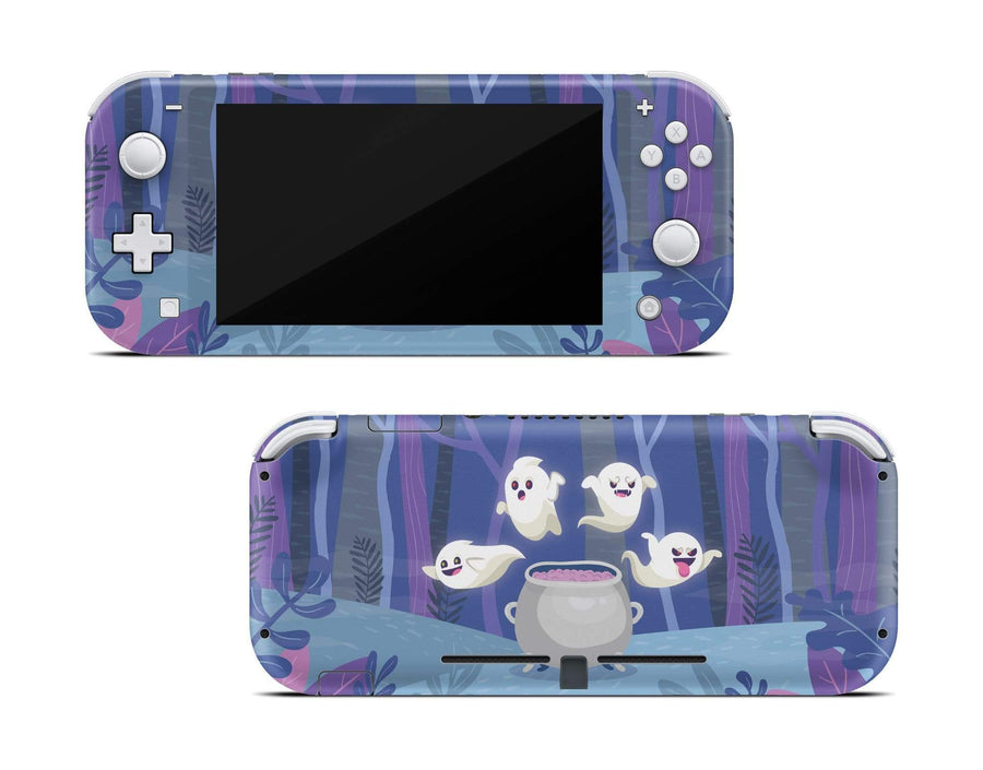 Sticky Bunny Shop Nintendo Switch Lite Spooky Ghosts Purple Edition Nintendo Switch Lite Skin