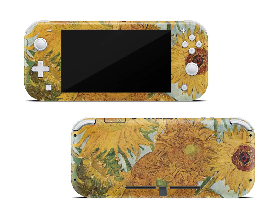 Sticky Bunny Shop Nintendo Switch Lite Twelve Sunflowers By Van Gogh Nintendo Switch Lite Skin