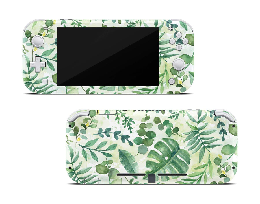 Sticky Bunny Shop Nintendo Switch Lite Watercolor Leaves Nintendo Switch Lite Skin