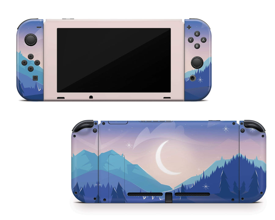 Sticky Bunny Shop Nintendo Switch Lunar Mountains Nintendo Switch Skin