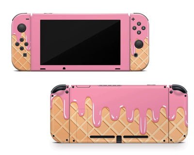 Sticky Bunny Shop Nintendo Switch Melted Ice Cream Cone Nintendo Switch Skin