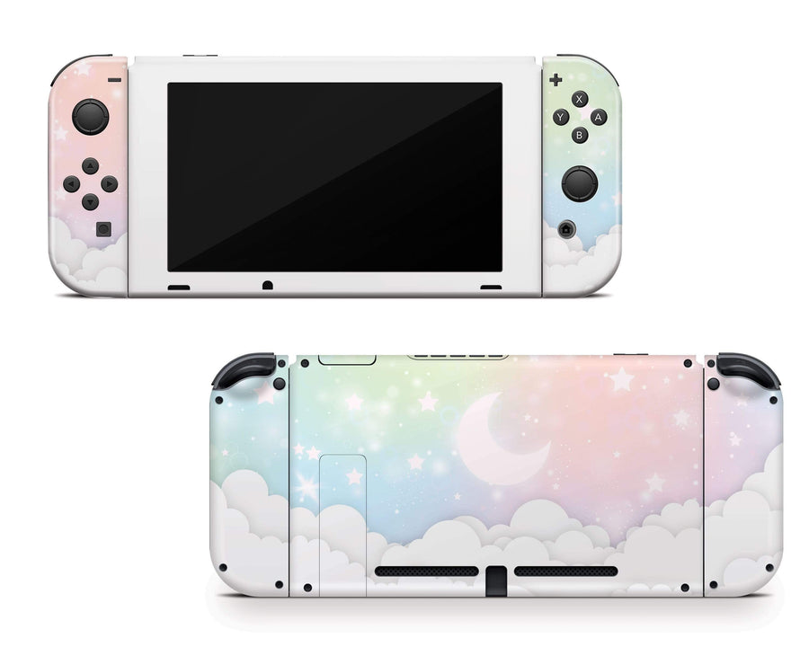 Sticky Bunny Shop Nintendo Switch Pastel Lunar Sky Nintendo Switch Skin