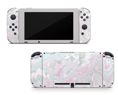 Sticky Bunny Shop Nintendo Switch Pastel Marble Nintendo Switch Skin