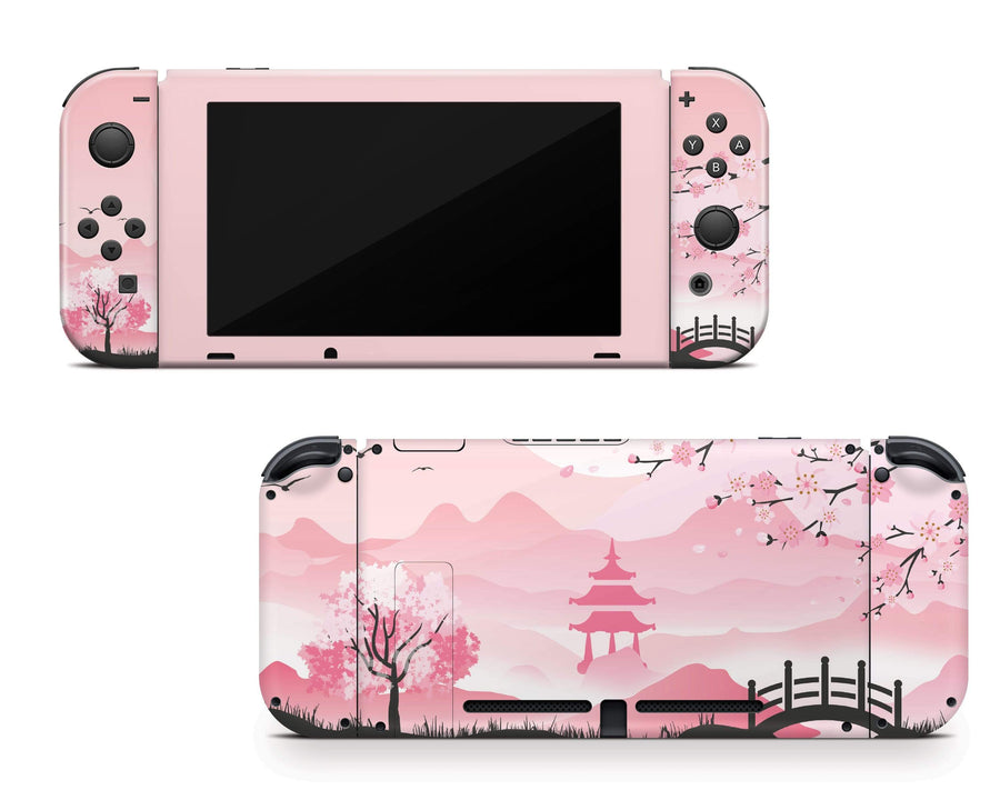 Sticky Bunny Shop Nintendo Switch Pink Sakura Nintendo Switch Skin