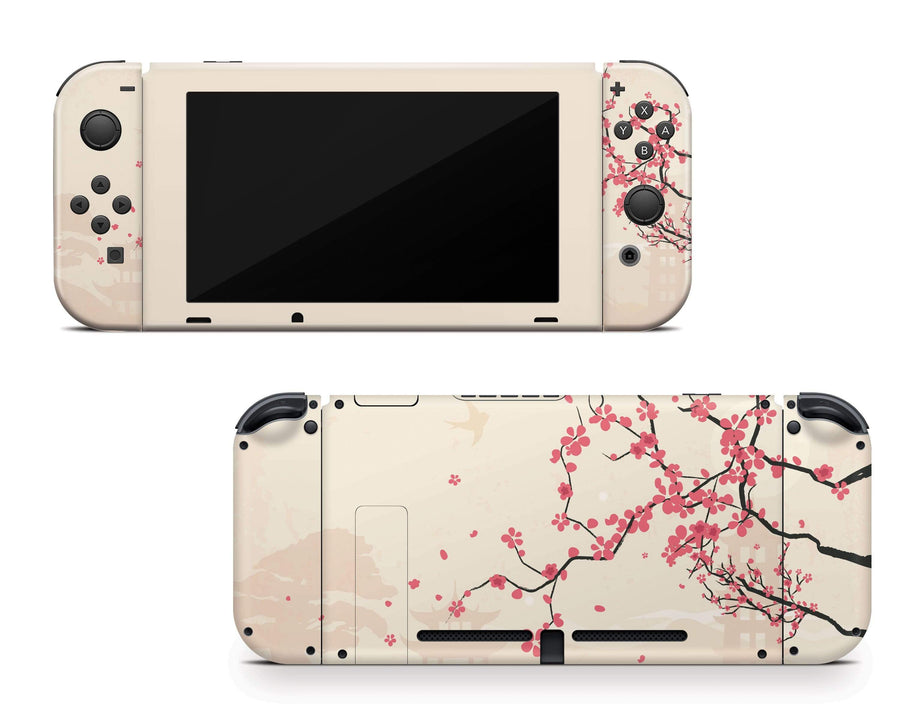 Sticky Bunny Shop Nintendo Switch Full Set Sakura Blossoms Nintendo Switch Skin