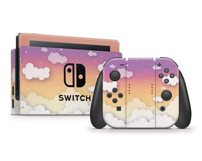 Sticky Bunny Shop Nintendo Switch Sunset Clouds In The Sky Nintendo Switch Skin