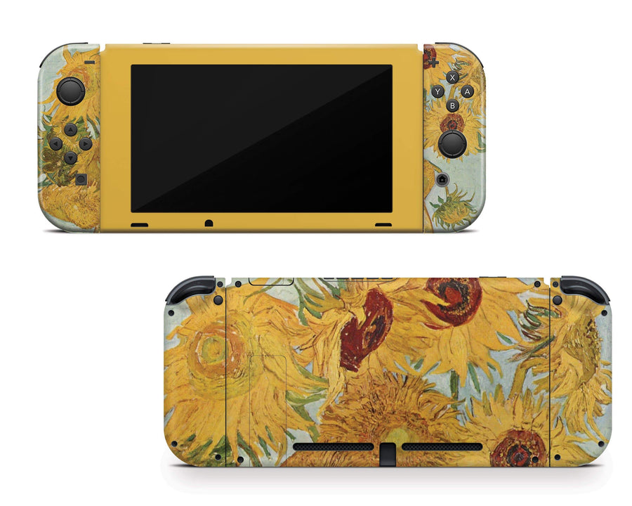 Sticky Bunny Shop Nintendo Switch Full Set Twelve Sunflowers By Van Gogh Nintendo Switch Skin