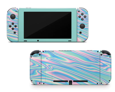 Sticky Bunny Shop Nintendo Switch Wavy Pastel Nintendo Switch Skin