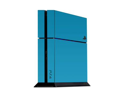 Sticky Bunny Shop Playstation 4 Playstation 4 / Deep Sky Blue Classic Solid Color Playstation 4 Skin | Choose Your Color