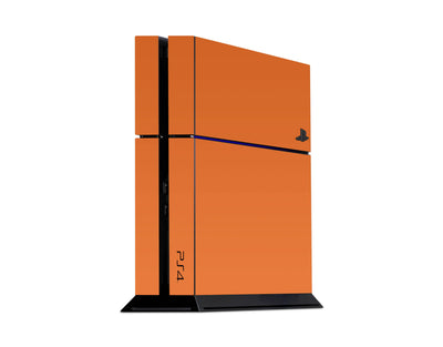 Sticky Bunny Shop Playstation 4 Playstation 4 / Orange Classic Solid Color Playstation 4 Skin | Choose Your Color