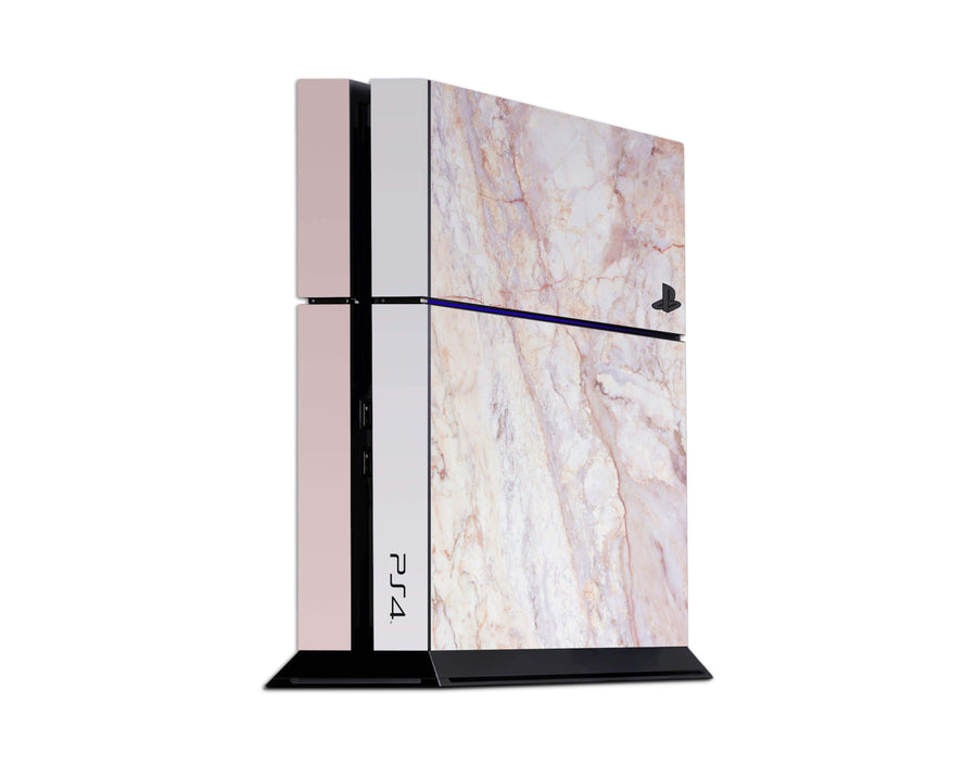 Sticky Bunny Shop Playstation 4 Playstation 4 Rose Gold Marble Playstation 4 Skin
