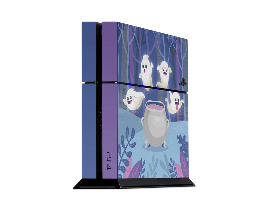Sticky Bunny Shop Playstation 4 Playstation 4 Spooky Ghosts Purple Edition Playstation 4 Skin