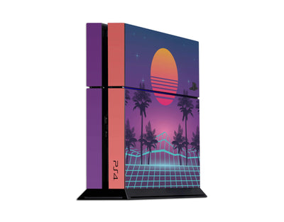 Sticky Bunny Shop Playstation 4 Playstation 4 Vaporwave Outrun Retro 80s Playstation 4 Skin
