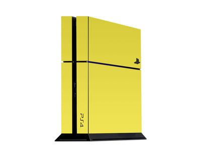 Sticky Bunny Shop Playstation 4 Playstation 4 / Yellow Classic Solid Color Playstation 4 Skin | Choose Your Color