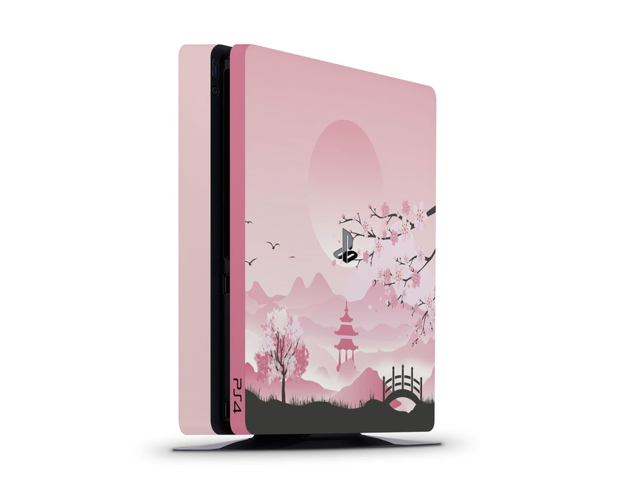 Sticky Bunny Shop Playstation 4 Slim Pink Sakura Playstation 4 Slim Skin