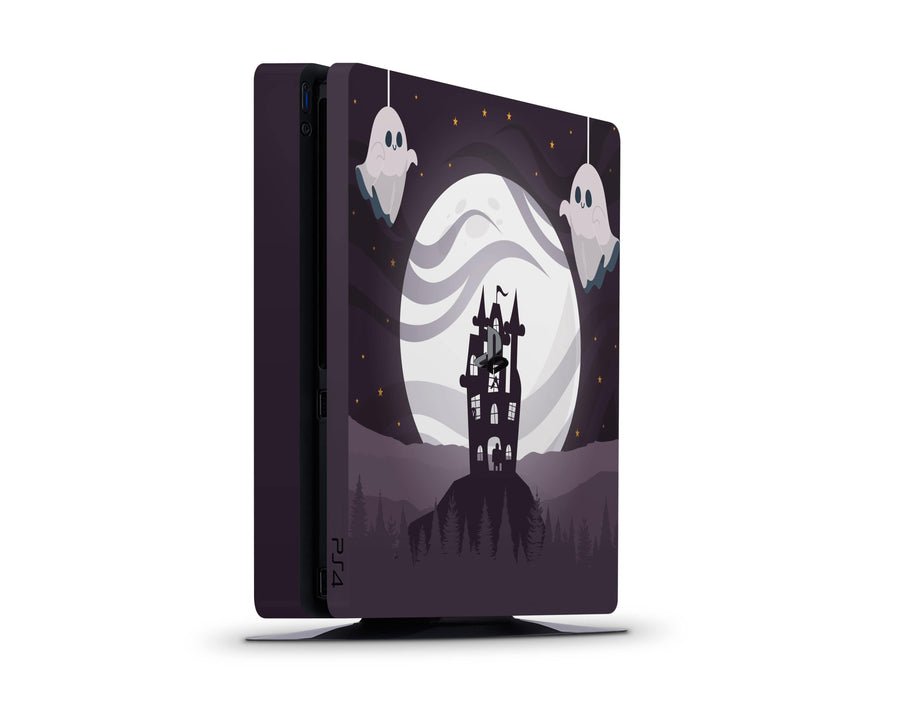 Sticky Bunny Shop Playstation 4 Slim Spooky Ghosts Moon Edition Playstation 4 Slim Skin