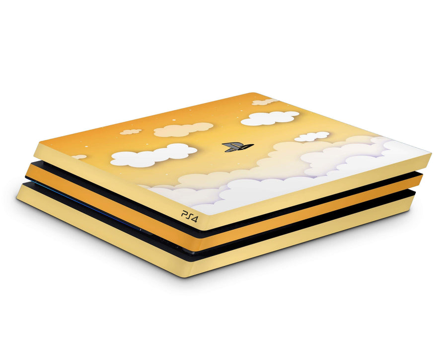 Sticky Bunny Shop Playstation 4 Yellow Clouds In The Sky Playstation 4 Pro Skin