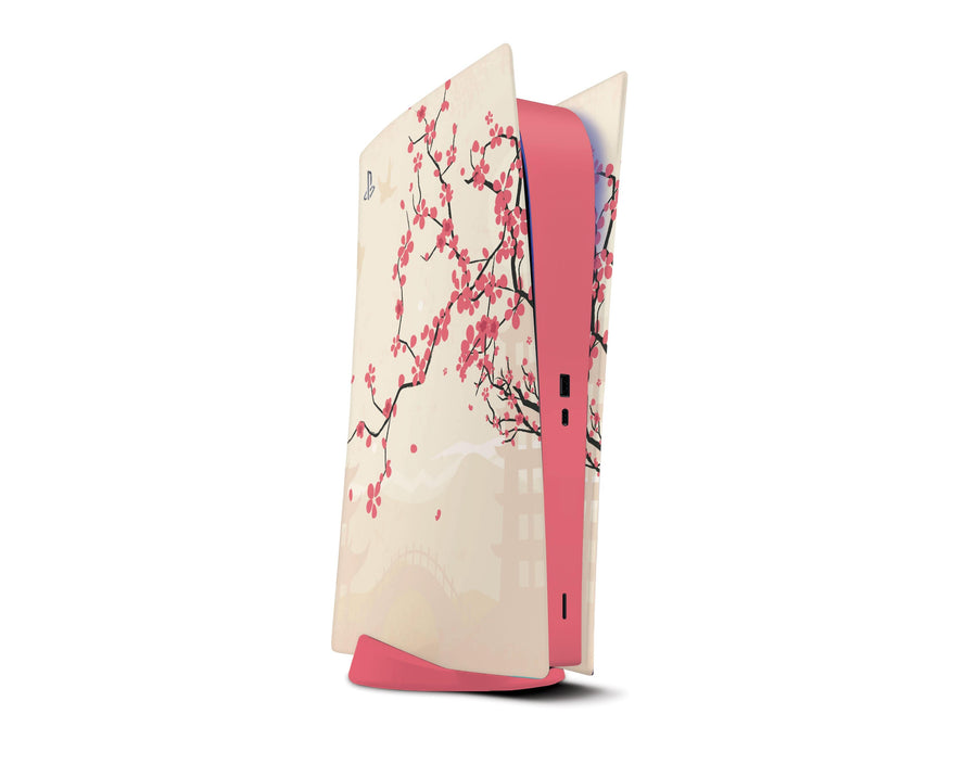 Sticky Bunny Shop Playstation 5 Digital Edition Sakura Blossoms PS5 Digital Edition Skin