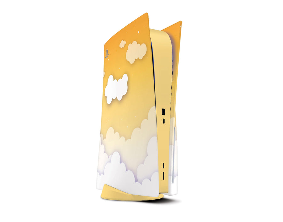 Sticky Bunny Shop Playstation 5 Yellow Clouds In The Sky PS5 Skin