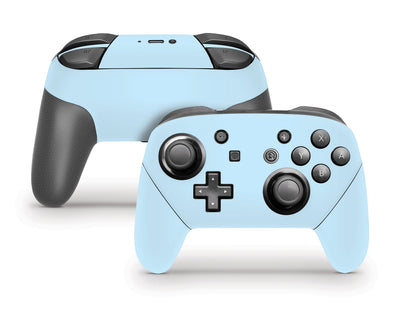 Sticky Bunny Shop Pro Controller Baby Blue Cute Solid Pastel Nintendo Switch Pro Controller Skin | Choose Your Color