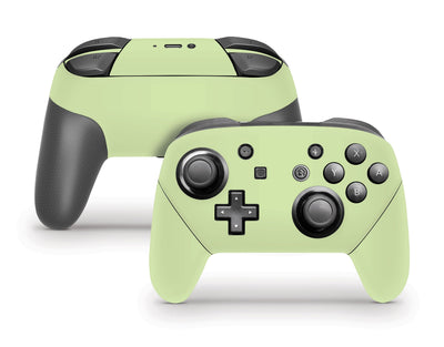 Sticky Bunny Shop Pro Controller Baby Green Cute Solid Pastel Nintendo Switch Pro Controller Skin | Choose Your Color