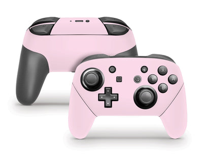 Sticky Bunny Shop Pro Controller Baby Pink Cute Solid Pastel Nintendo Switch Pro Controller Skin | Choose Your Color