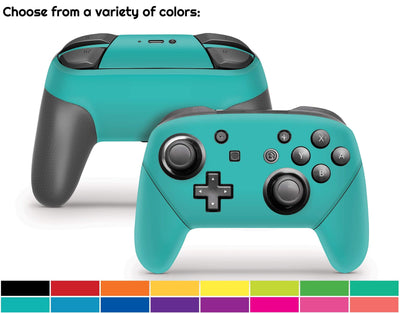 Sticky Bunny Shop Pro Controller Classic Solid Color Nintendo Switch Pro Controller Skin | Choose From A Variety Of Color Options