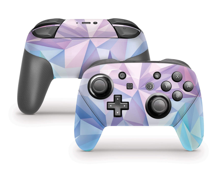 Sticky Bunny Shop Pro Controller Geometric Pastel Nintendo Switch Pro Controller Skin