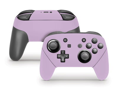 Sticky Bunny Shop Pro Controller Lavender Cute Solid Pastel Nintendo Switch Pro Controller Skin | Choose Your Color