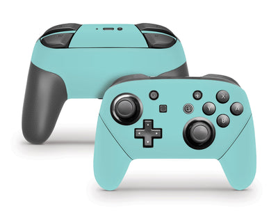 Sticky Bunny Shop Pro Controller Light Teal Cute Solid Pastel Nintendo Switch Pro Controller Skin | Choose Your Color