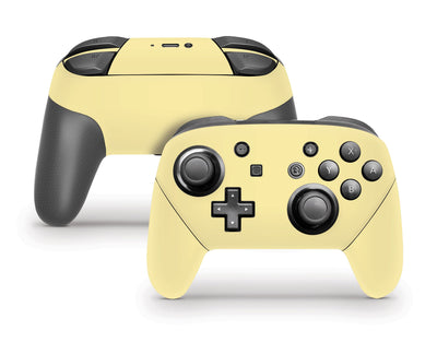 Sticky Bunny Shop Pro Controller Light Yellow Cute Solid Pastel Nintendo Switch Pro Controller Skin | Choose Your Color