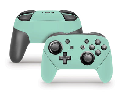 Sticky Bunny Shop Pro Controller Mint Cute Solid Pastel Nintendo Switch Pro Controller Skin | Choose Your Color