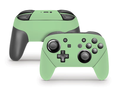 Sticky Bunny Shop Pro Controller Pastel Green Cute Solid Pastel Nintendo Switch Pro Controller Skin | Choose Your Color