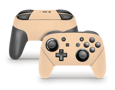 Sticky Bunny Shop Pro Controller Pastel Orange Cute Solid Pastel Nintendo Switch Pro Controller Skin | Choose Your Color