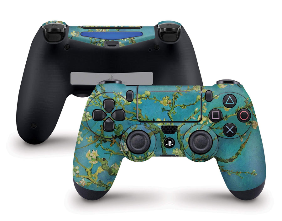 Sticky Bunny Shop PS4 Controller Almond Blossoms By Van Gogh PS4 Controller Skin
