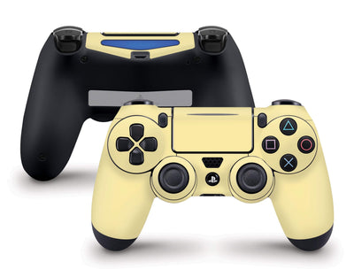 Sticky Bunny Shop PS4 Controller Light Yellow Cute Solid Pastel PS4 Controller Skin | Choose Your Color