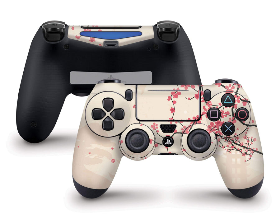 Sticky Bunny Shop PS4 Controller Sakura Blossoms PS4 Controller Skin