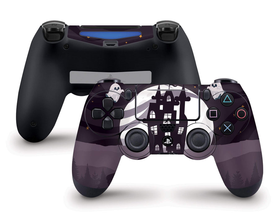 Sticky Bunny Shop PS4 Controller Spooky Ghosts Moon Edition PS4 Controller Skin