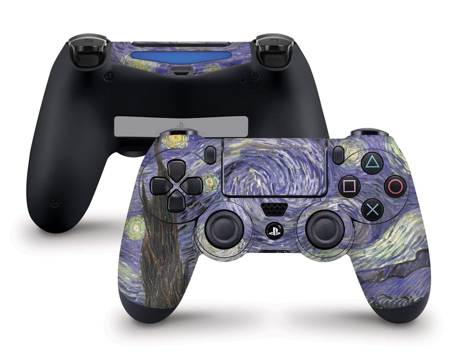 Sticky Bunny Shop PS4 Controller Starry Night By Van Gogh PS4 Controller Skin