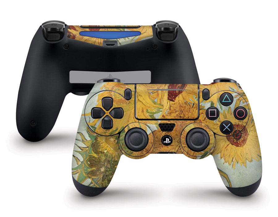 Sticky Bunny Shop PS4 Controller Sunflowers By Van Gogh PS4 Controller Skin
