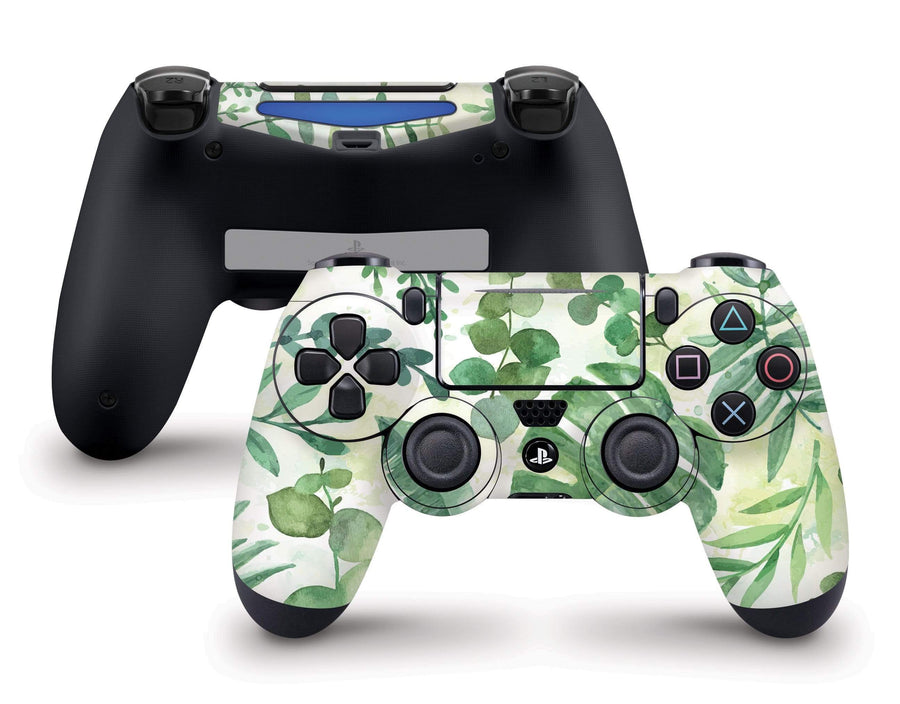Sticky Bunny Shop PS4 Controller Watercolor Leaves PS4 Controller Skin