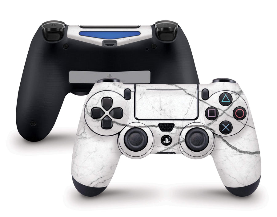 Sticky Bunny Shop PS4 Controller White Marble PS4 Controller Skin